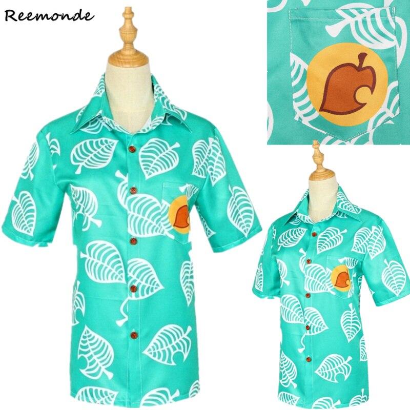 Jogo crossing camisa cosplay traje nook camisa roupas animal das mulheres camisetas adulto dos homens de manga curta blusa topos crianças