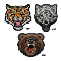 animal shape armband paste patch tiger wolf bear cloth label decoration clothes backpack hat tactical morale embroidery badge