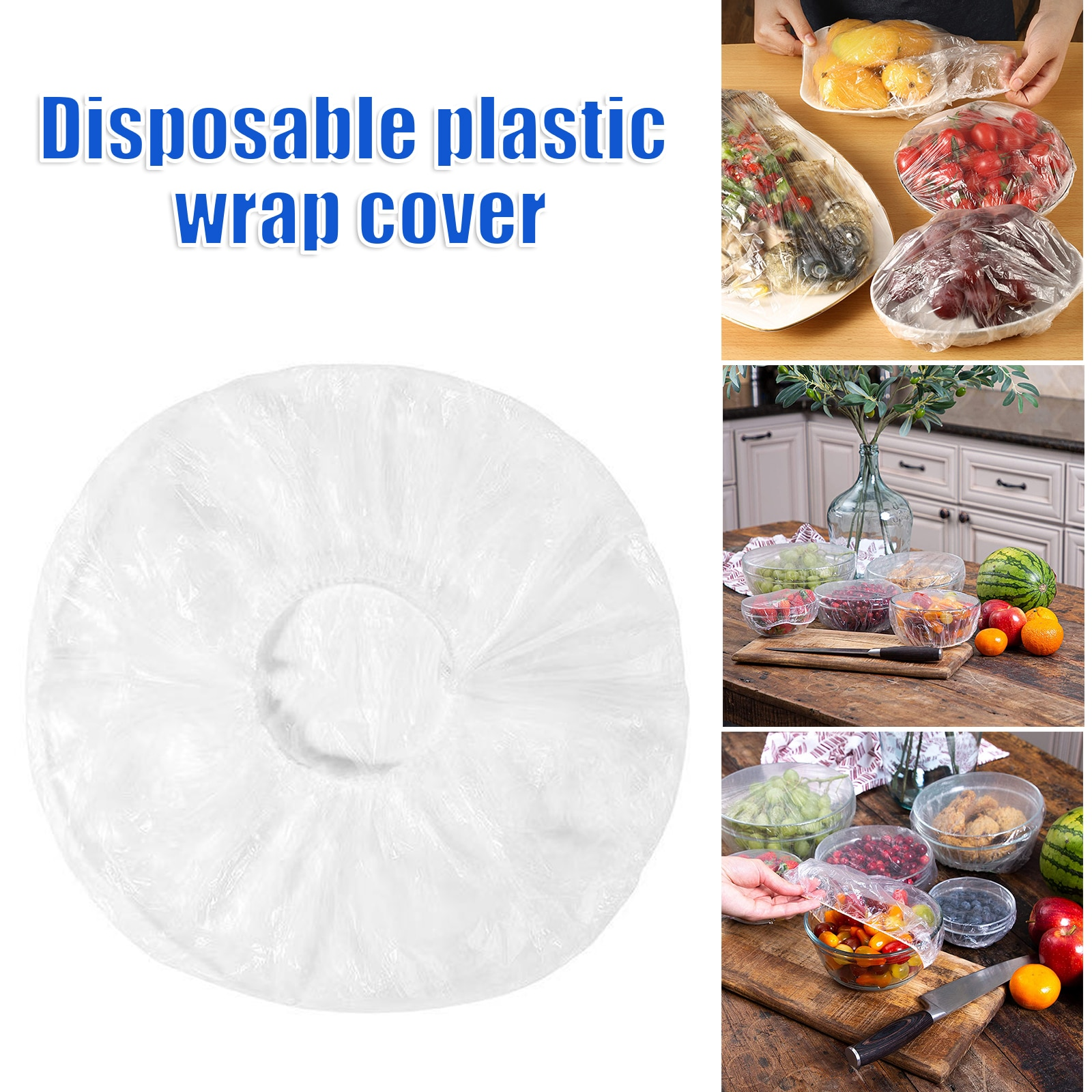 Bolsas de mantenimiento fresco elásticas para almacenamiento de alimentos, cubierta de cuenco...