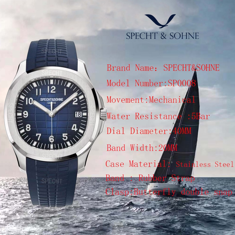 2021 New Luxury Brand Sports Watches Classic Mens Watches Automatic Mechanical Watch Date Relojes Hombre 30M Waterproof 40MM enlarge