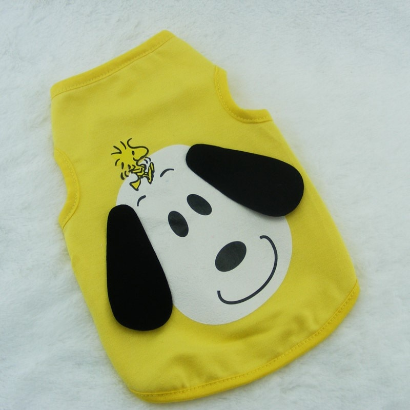 Cute  Peanut Charlie Brown Beagle Dog Cartoon Pet vest for Poodle, shih tzu,Pomeranian, Pug Chihuahua poodle Schnauzer