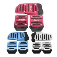 universal aluminum manual transmission car non slip pedal manual car brake clutch accelerator alloy antiskid foot treadle