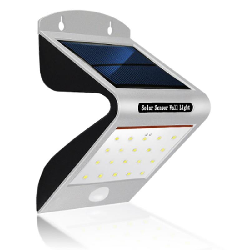 مصباح حائط LED يعمل بالطاقة الشمسية مع مستشعر حركة PIR ، مقاوم للماء ، IP66 ، حديث ، إضاءة خارجية ، ضوء أبيض دافئ ، مثالي للحديقة أو الشرفة.