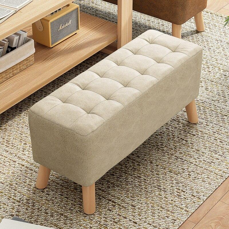 Скандинавский табурет для дома, маленькая скамейка, ленивый диван, деревянный табурет, квадратный стул, Маленький стул, тканевый табурет дл...
