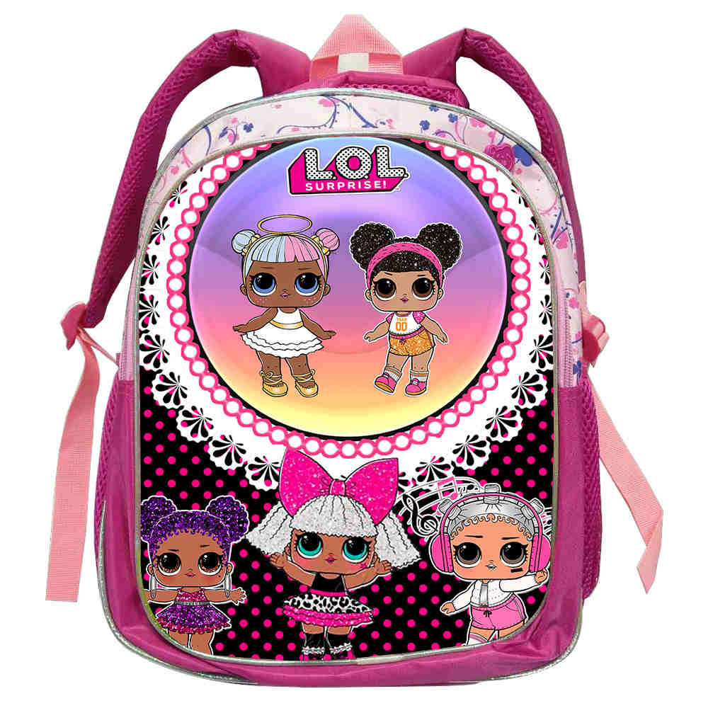 Marca de moda LOL Doll, mochilas escolares para niñas y niños, mochilas escolares de dibujos animados LOL, Paquete sorpresa para libros, mochilas escolares para niños