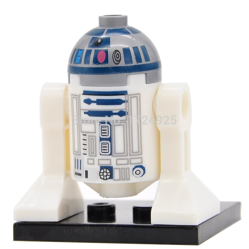 Single Star Wars Robot C3PO R2D2 C-3PO R2-D2 BB8 Model Starwars Building Blocks Bricks Kits Toys for Children XH332