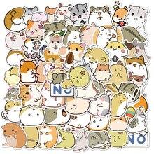 Paquete de pegatinas de animales de dibujos animados para álbum de recortes, papelería, portátil, teléfono, guitarra, Maleta, chica, 10/50 Uds.