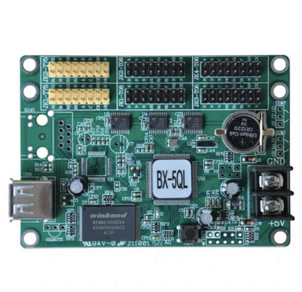 Onbon bx-5ql, controlador usb, 2 hub75, 4 hub08, suporte 256*65 pixel, cinza grau controlador async, mais barato controle de cor completa