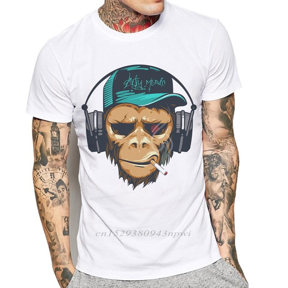 Camiseta de manga corta con dibujo de Mono para Hombre de Camiseta...
