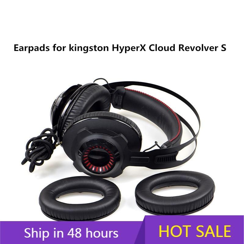 High Quality Foam Ear Pads Cushions for Kingston HyperX Cloud Revolver S Headphones Earpad 10.15 недорого