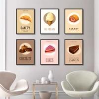 Affiches de peinture sur toile colorees  Macaron  gateau aux bonbons  nourriture  tableau dart mural pour decoration de salon  decoration de maison
