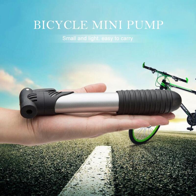Mini bomba de plástico portátil de alta resistencia para bicicleta, Inflador de neumáticos de bicicleta, aparatos ultraligeros, autoinflador negro