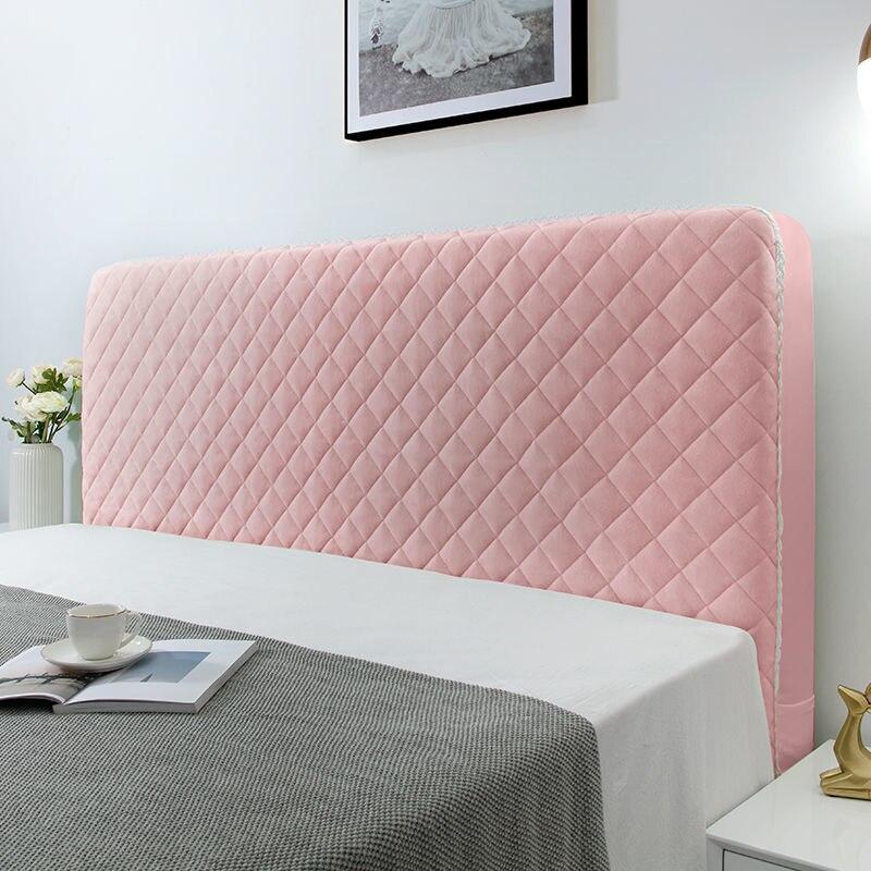 عالية الجودة لينة الفانيلا مبطن غطاء السرير شاملة شاملة المخملية الدانتيل حافة غطاء اللوح الأمامي أفخم غطاء واقي رأس السرير