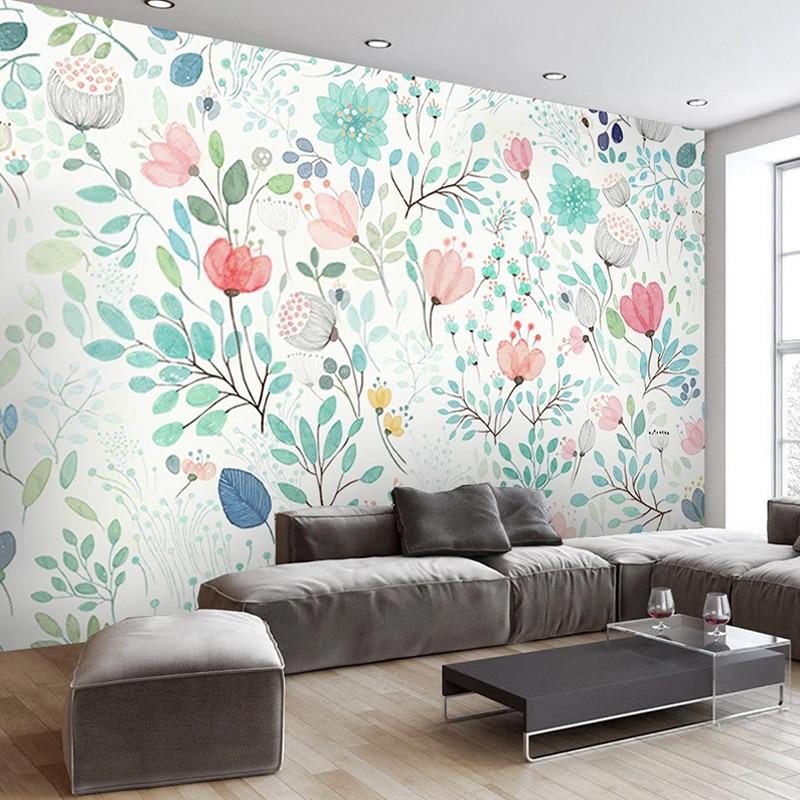 Пользовательские Настенные обои Papel де Parede 3D акварельные цветочные цветы 3D фото обои для гостиной спальни фон домашний декор