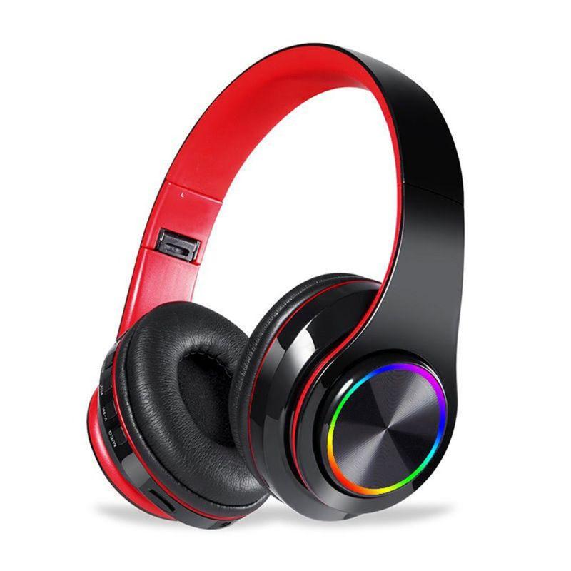 B39 auriculares inalámbricos Bluetooth luces LED con micrófono reproductor Mp3