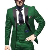 handsome one button groomsmen peak lapel groom tuxedos men suits weddingpromdinner best blazerjacketpantsvesttie 165