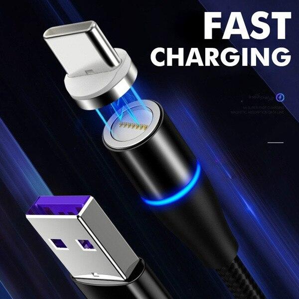 2.4A rápido magnético USB-C tipo C/IOS/Micro USB largo 1M/2M cuerdas velocidad 99%...