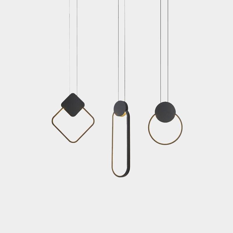 Lámpara colgante led creativo minimalista moderna, lámpara colgante nórdica para comedor, lámpara colgante para dormitorio, lámpara colgante para Cocina