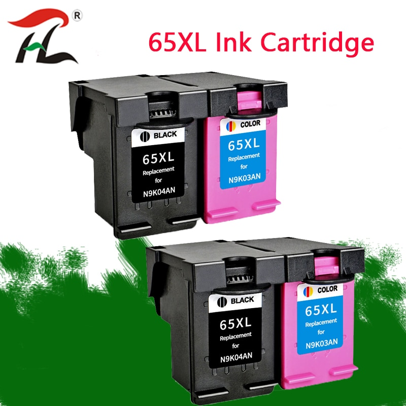 YLC REPUESTOS DE 65XL cartucho de tinta hp 65 xl hp 65 hp DeskJet3720 3722, 3755, 3730, 3758 envidia 5010, 5020 de 5030 impresora 5232