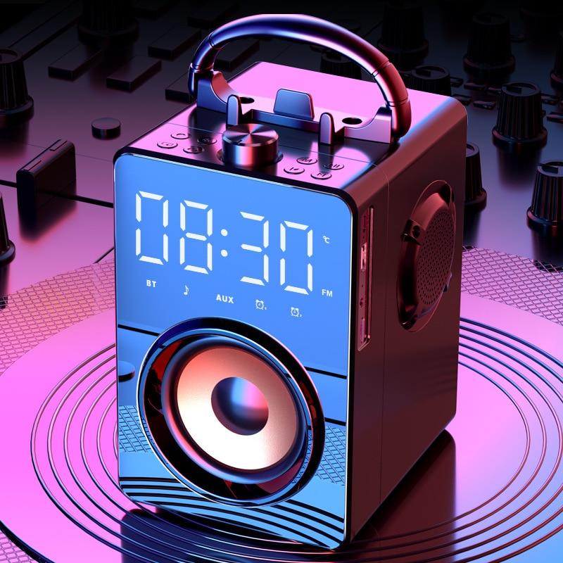 Altavoces portátiles con Bluetooth para estéreo HiFi, sistema de sonido de Radio...