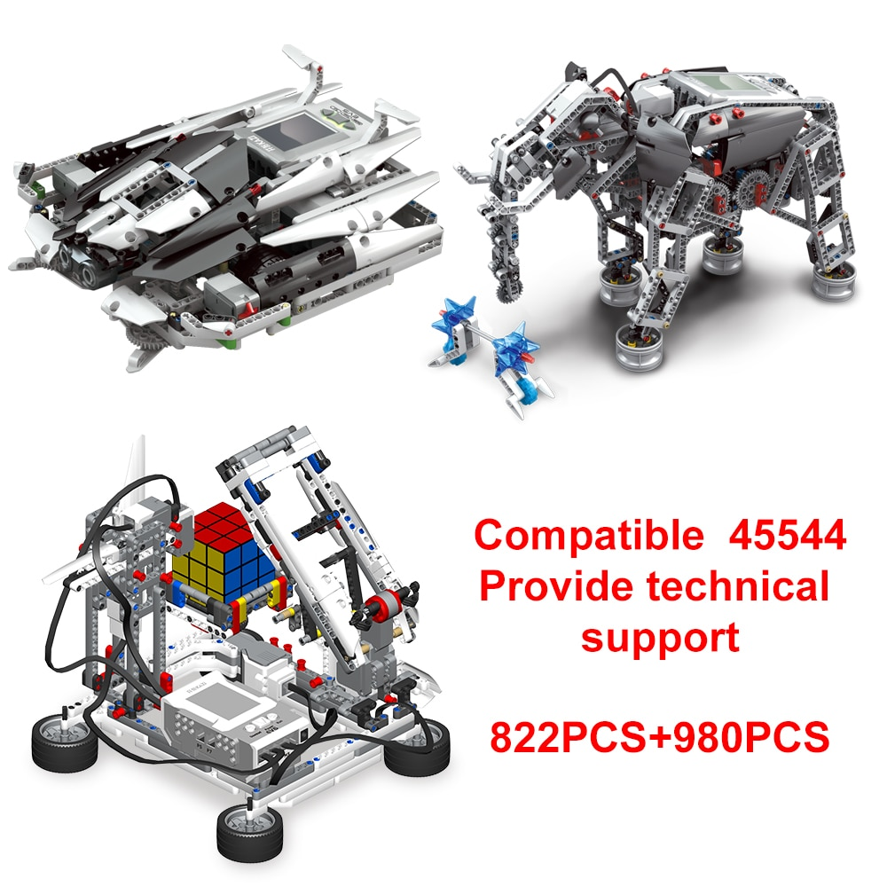 High-Tech Building Block Programming Series the Robots Education STEAM Compatible With EV3 Graphical Cube Upgraded DIY Toy Gift