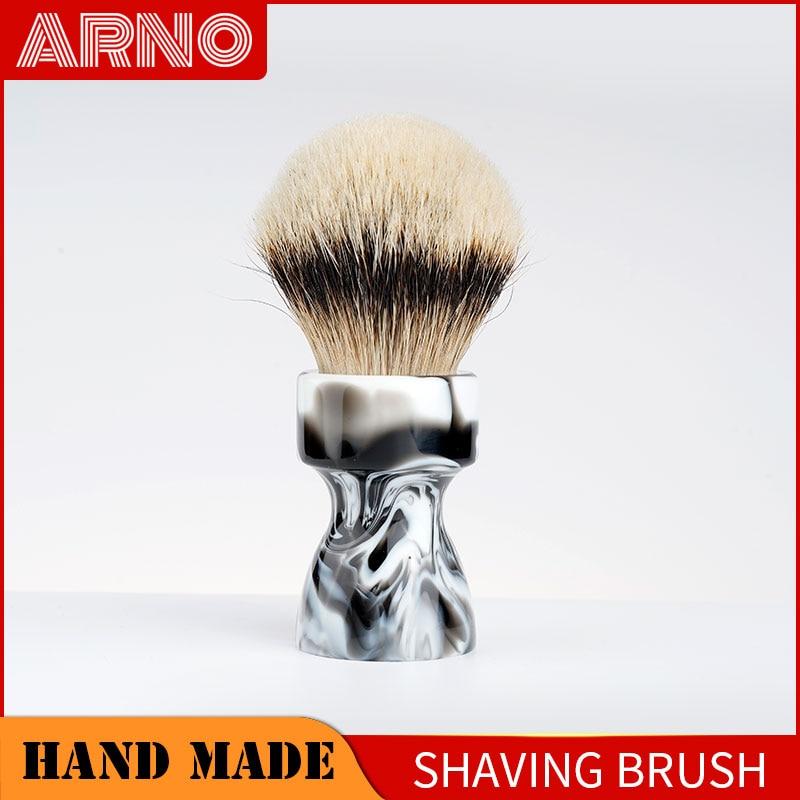 ARNOBRUSH-Shaving brush handle with badger knot-Camino(black white)