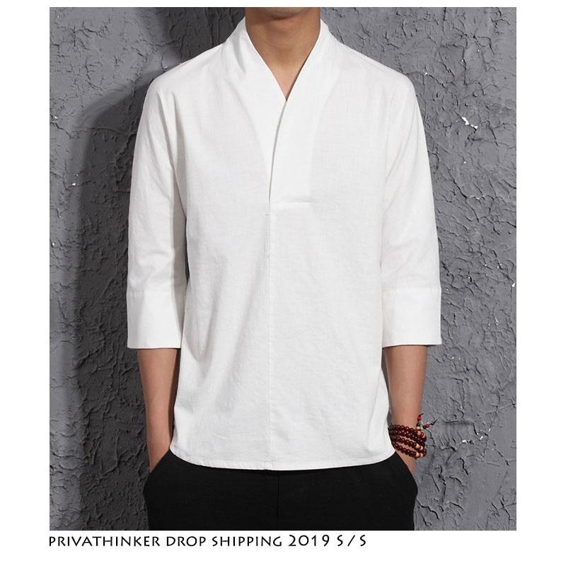 Прямая поставка, мужские дизайнерские летние рубашки 2020, льняная рубашка в уличном стиле, мужские Модные Винтажные белые рубашки в китайско...