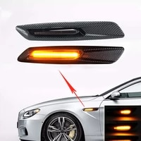 side turn signal for bmw e90 e91 e92 e93 e60 e61 series car front fender side air vent cover trim decoratation glow paste style