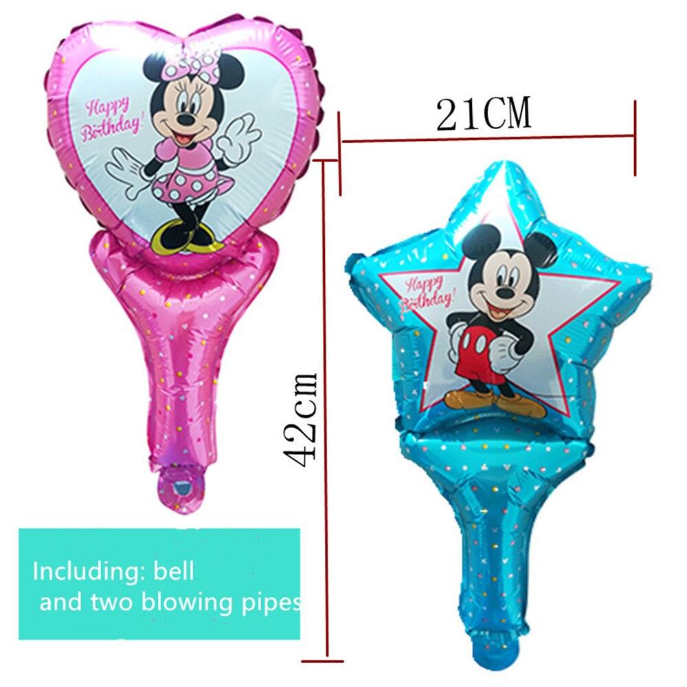 2 uds. Minnie Mickey Decoración de cumpleaños globo de aire de aluminio miniatura Mickey Mouse juguete para niños fiesta niños y niñas