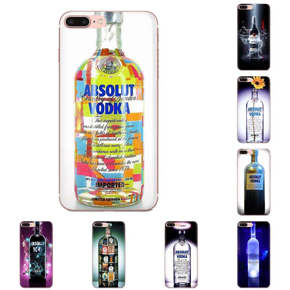 Suave TPU casos Capa para Samsung Galaxy Note 8 9 10 Pro S4 S5 S6 S7 S8 S9 S10 S11 S11E S20 Edge Plus Ultra absoluta botella de Vodka