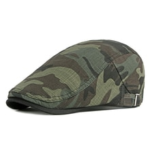 2021 Casual Camouflage Hat For Men Breathable Cotton Berets Spring Summer Thin Flat Peaked Caps Wome