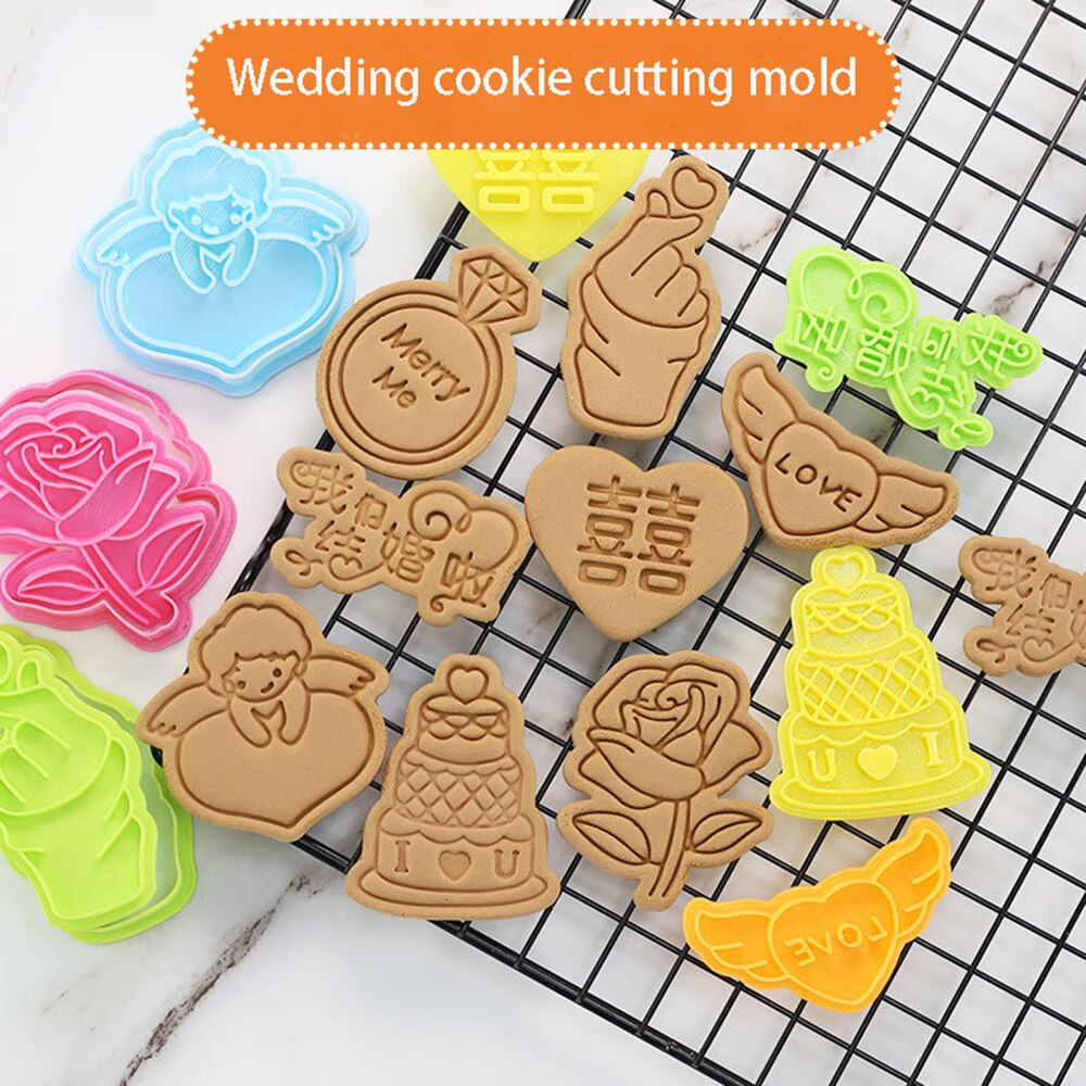 AliExpress - Wedding Valentine Cartoon Cookie Cutter Mould 3D Fondant Cake Mold Biscuit Cake Decorating Tools
