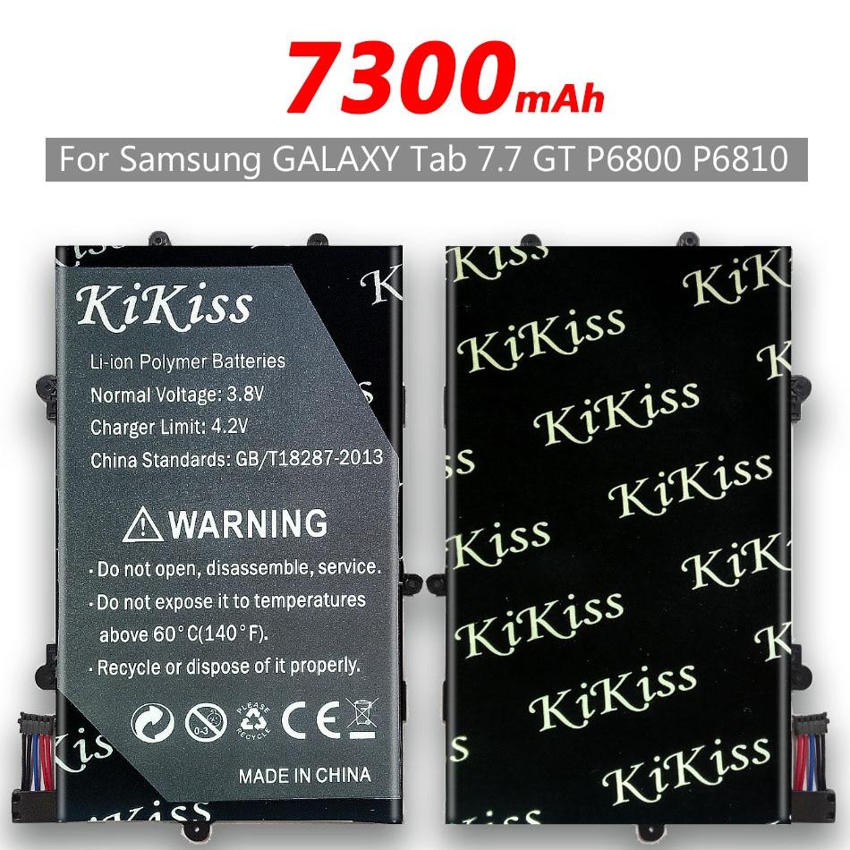 Herramienta gratuita 7300mAh kikiss de la batería para Samsung GALAXY Tab 7,7 P6800 P6810 GT-P6800 GT-P6810 SP397281A(1S2P) SP397281A 1s2p Bateria