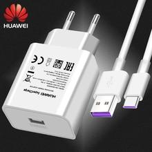 Huawei P10 P9 Plus USB chargeur voyage mural 22.5W Super 100% Original 5V4. 5A 5A USB type C câble Honor 10 V10 View10 Nova 3e