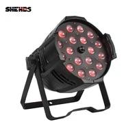 shehds led zoom par 18x18w rgbwauv 6in1lighting in alluminio dmx 512 stage light impermeable ip20 dj di illuminazione