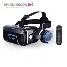 VR 3D Google carton VR shinecon Pro Version VR réalité virtuelle 3D lunettes Smart Bluetooth télécommande sans fil Gamepad