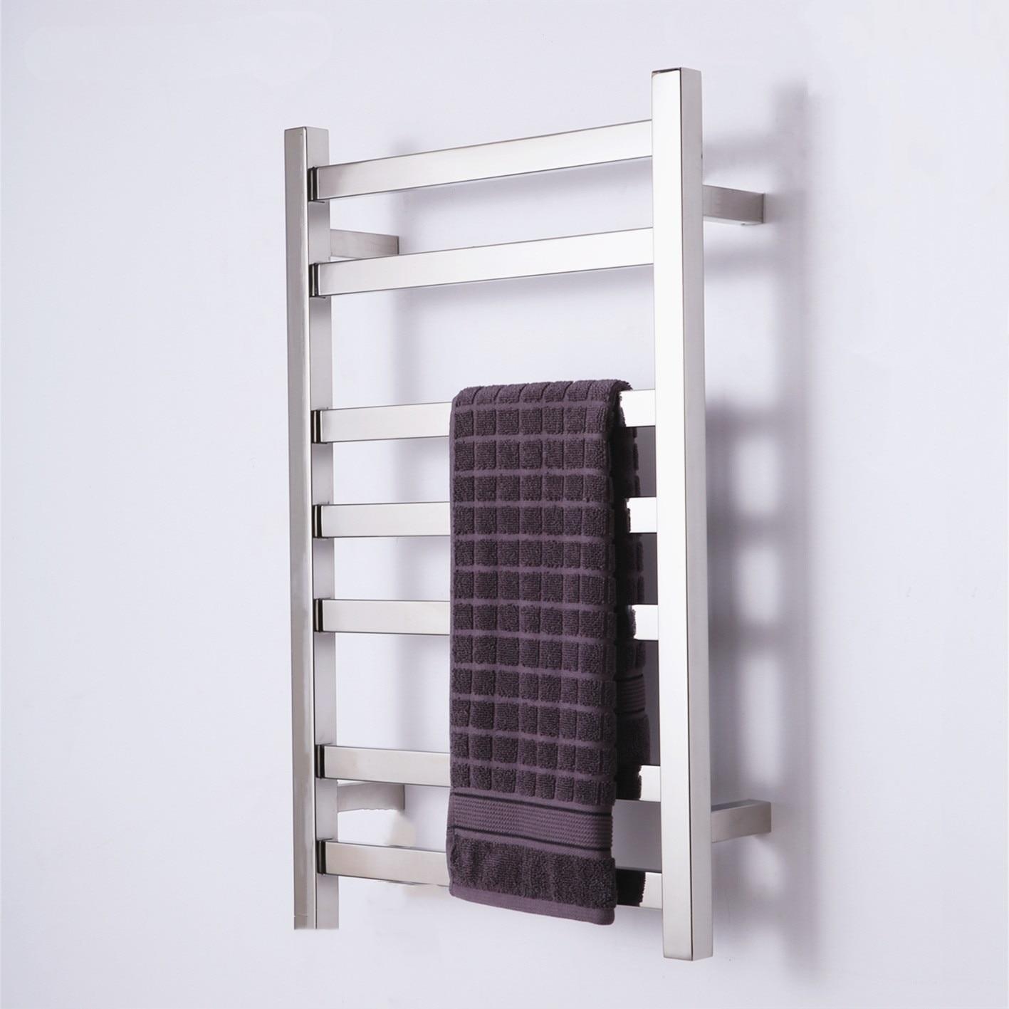 رف المنشفة الكهربائي الجديد المخفي لعام 2021 مثبت على الحائط 304 من الفولاذ المقاوم للصدأ رف تجفيف منشفة كهربائي 220 فولت للحمام