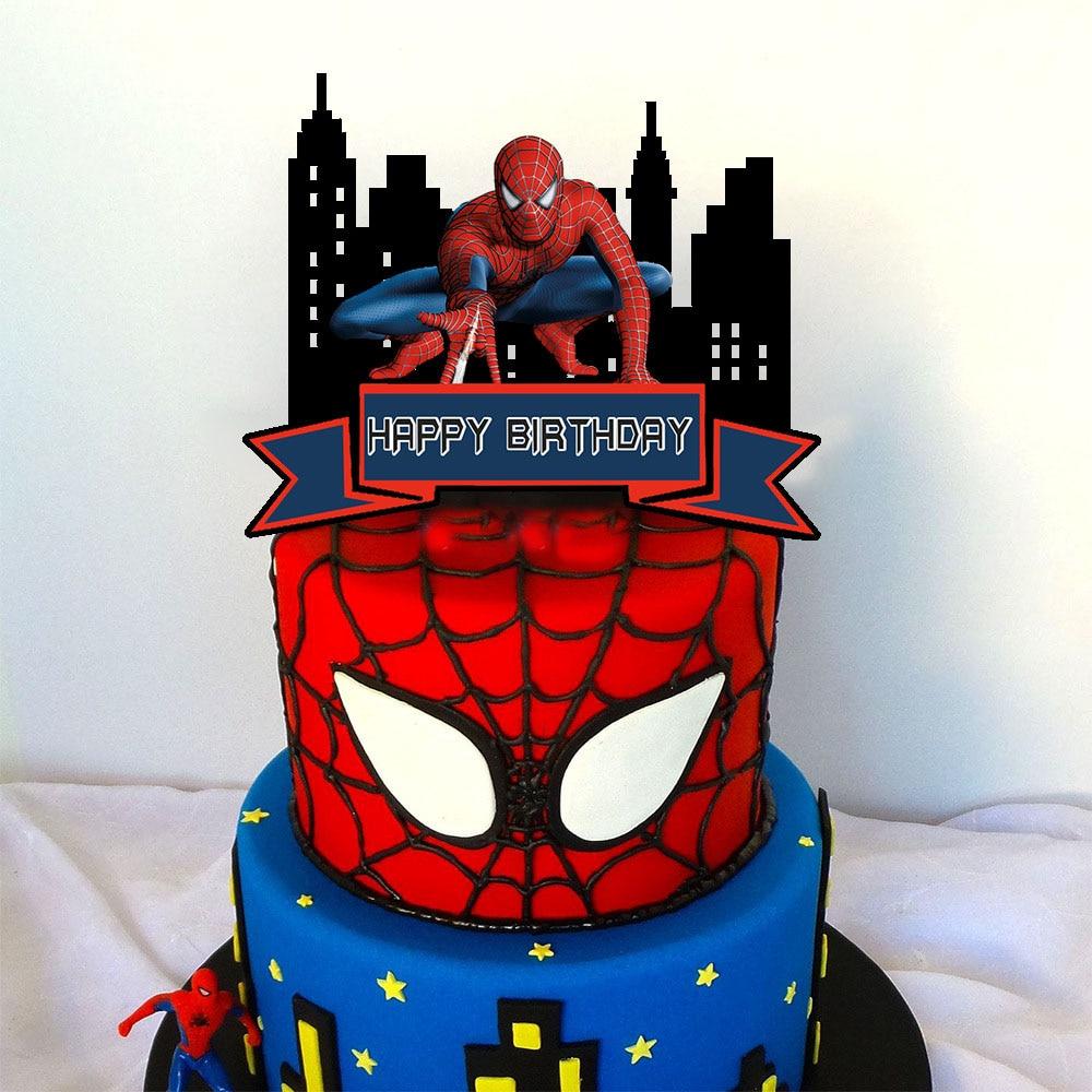 decoracion-de-pastel-de-spiderman-para-ninos-decoracion-de-pastel-de-superheroe-acrilico-adornos-de-pastel-de-fiesta-1-uds
