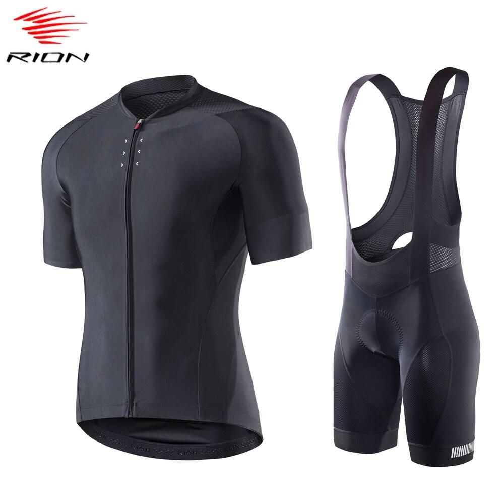 RION maillot ciclismo hombre verano ciclismo Jersey conjunto de manga corta bicicleta...