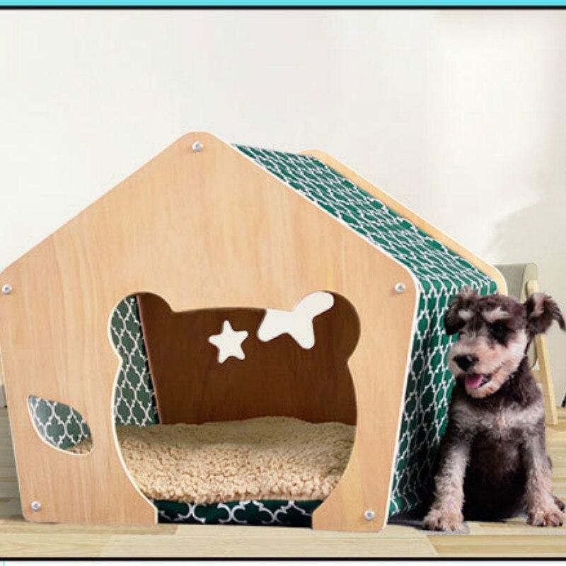 Accesorios para mascotas portátil interior de habitación cama perrera plegable gato de Casa tienda-cama nido para mascota perro