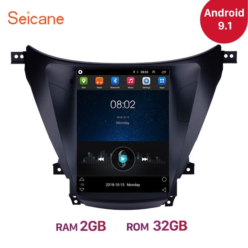 Seicane 9,7 pulgadas Android 9,1 para 2012 2013 2014 avante Hyundai Elantra coche estéreo navegación GPS Radio unidad reproductor soporte DVR