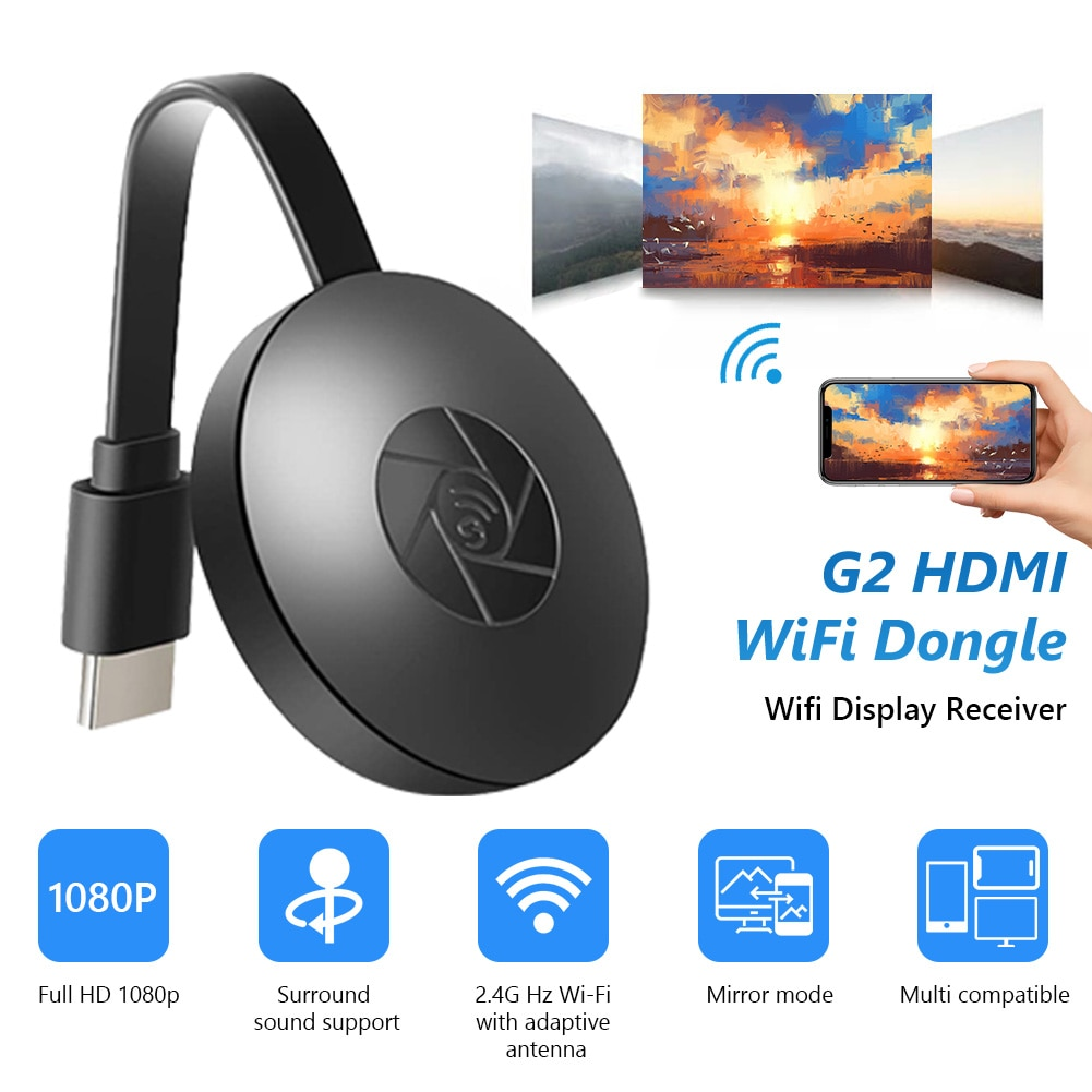 2.4G 4K Wireless WiFi Mirroring Cable HDMI-compatible Adapter 1080P Display Dongle For Samsung Xiaom