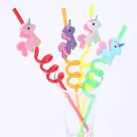 4pcs unicorn party decorations drinking straws wedding decoration table baby shower birthday party decorations kids gift