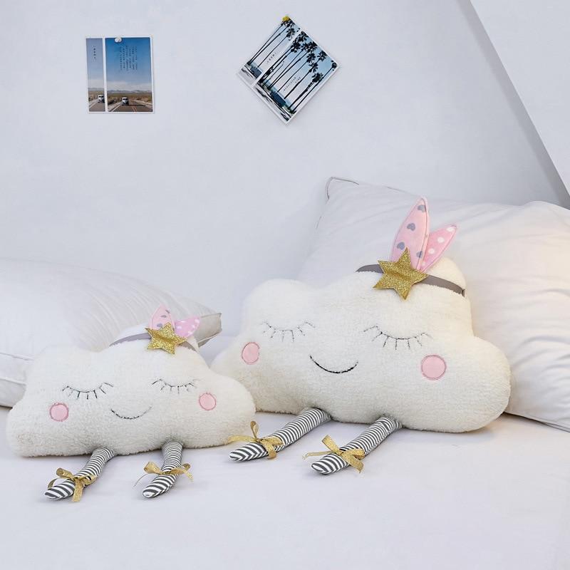 Wall Decor Pillow for Kids Cloud Baby Room Plush Stuffed Toys Newborns Cushion Photography Props Girls Gift Children Stuff