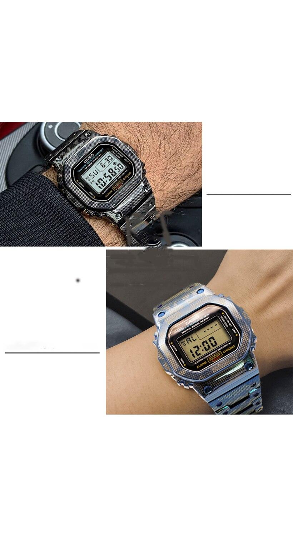 Caixa da Liga de Titânio e Pulseira Metal do Vercase Modificação Pulseira Quadro Dw5600 g Shockdw5600 Gwm5610 Gw5000