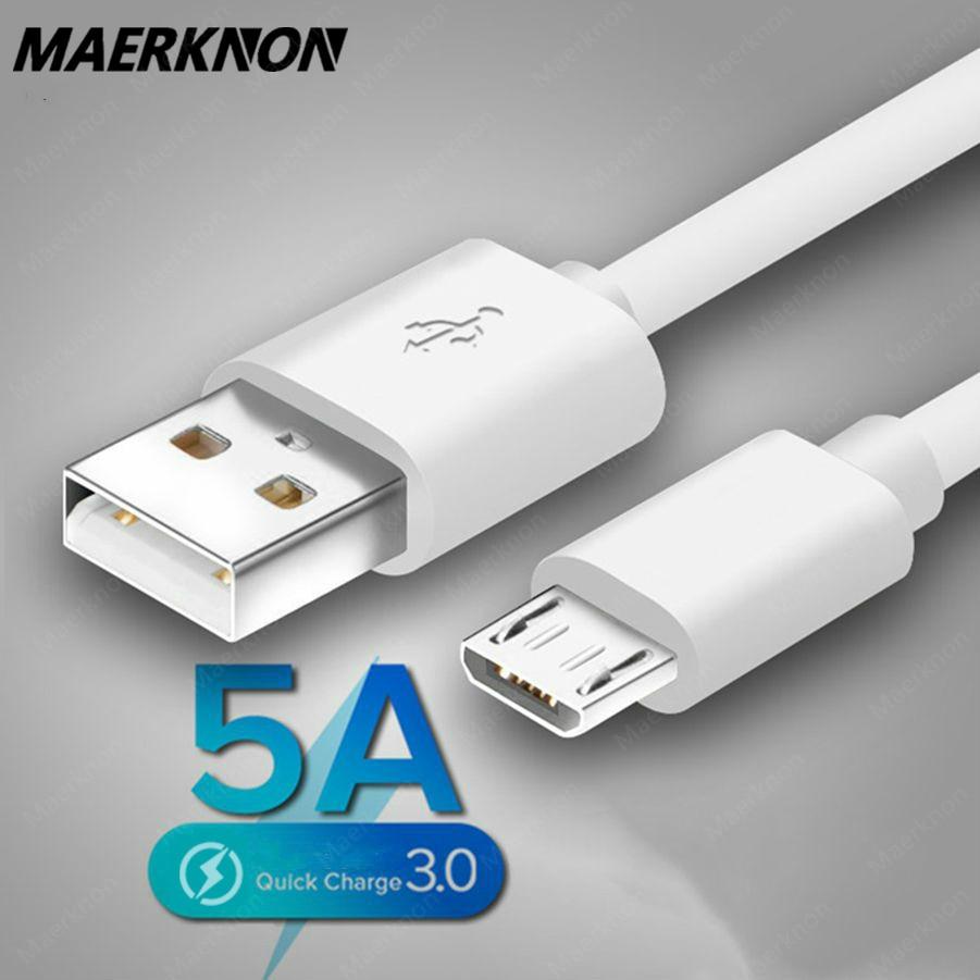 Cable de carga superrápida 5A, Cable Micro USB de sincronización de datos...
