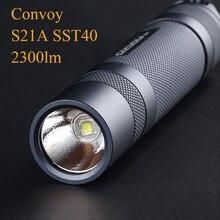 Convoi S21A lampe de poche EDC torche Flash lumière SST40 2300lm Linterna LED 21700 18650 lampe de poche lanterne pêche lampe travail lumière