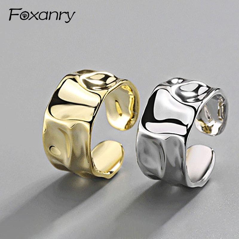 foxanry-925-пробы-серебристый-неправильной-формы-кольцо-ручной-работы-для-Для-женщин-творческий-геометрический-широкими-anillos-ювелирное-изделие