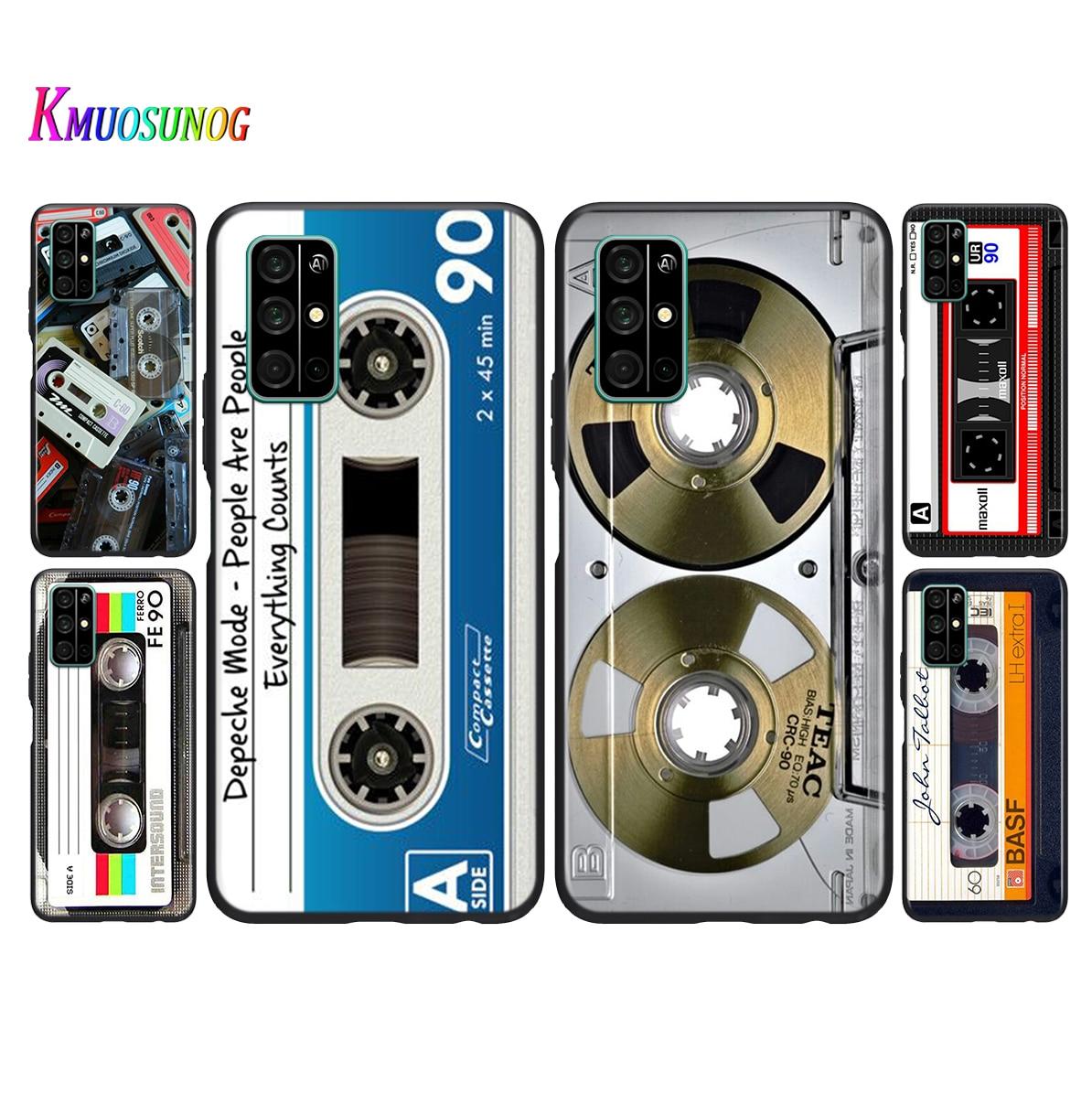 Estilo antigo fita cassete silicone caso de telefone para huawei honor 30 20 pro 10i 9c 9a 9 s 9x 8x 10 9 lite 8 8a 7a pro lite capa