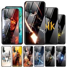 Gehärtetem Glas Fall Für Huawei P30 P20 P10 Mate 30 20 10 Lite Pro Ehre 8X Silikon Abdeckung Anime Dämon slayer Kimetsu keine Yaiba